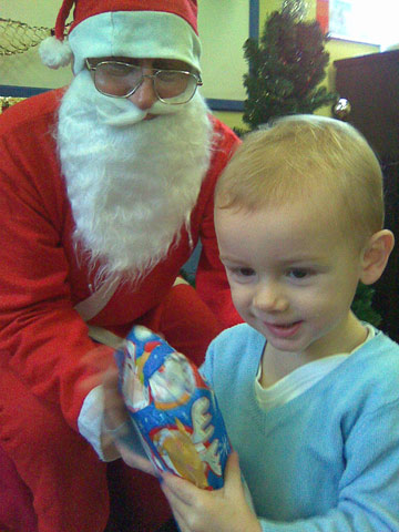 Santa visits Make and Play!